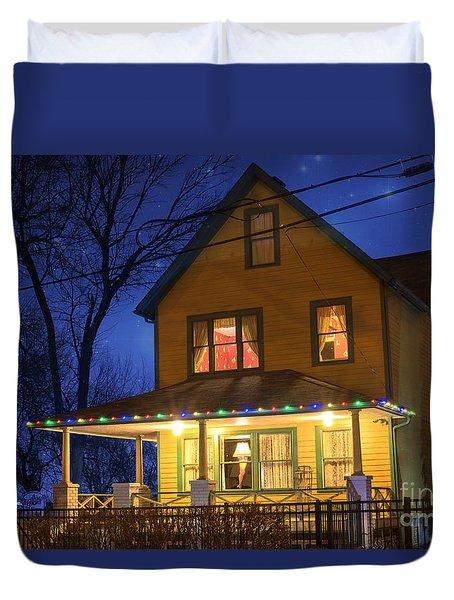 Christmas Story House Duvet Cover