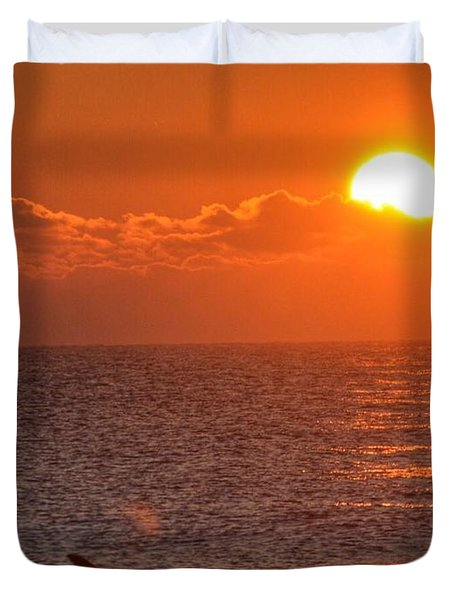 Christmas Sunrise On The Atlantic Ocean Duvet Cover
