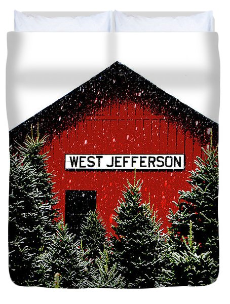 Christmas Town Duvet Cover