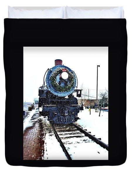 Christmas Train Duvet Cover