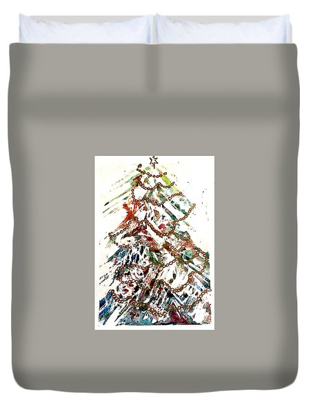 Christmas Tree Duvet Cover by Dana Patterson