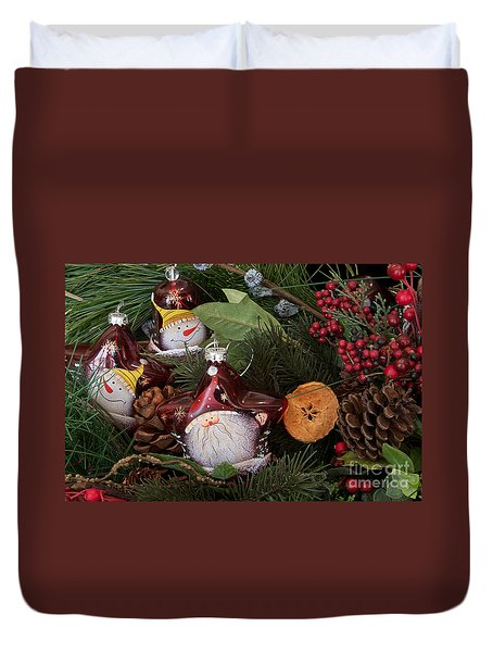 Duvet Cover featuring the photograph Christmas Tree Decor by Vinnie Oakes