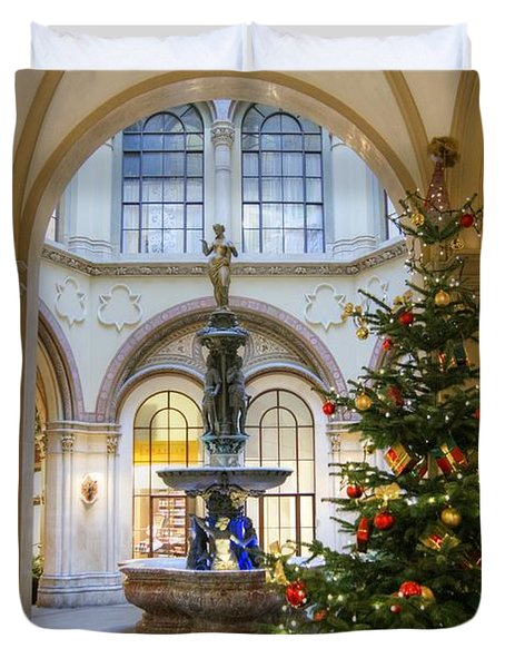 Christmas Tree In Ferstel Passage Vienna Duvet Cover