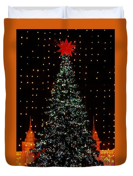 Christmas Tree  Duvet Cover by John Wartman