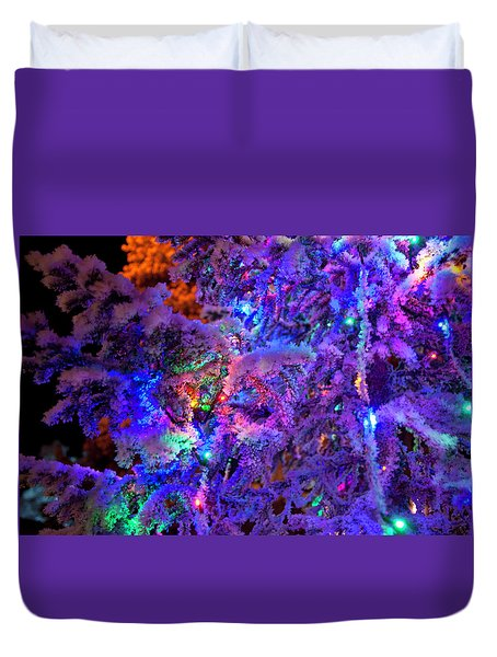 Christmas Tree Night Decoration Duvet Cover