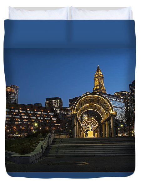 Christopher Columbus Park Boston Ma Trellis Custom House Duvet Cover