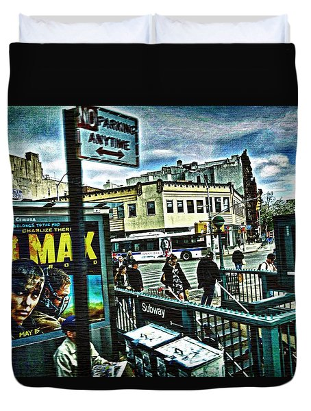 Duvet Cover featuring the photograph Christopher Street Greenwich Village  by Joan Reese