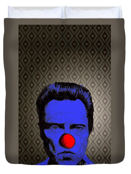 Duvet Cover featuring the drawing Christopher Walken 1 by Jason Tricktop Matthews