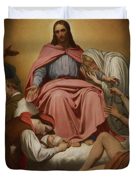 Christus Consolator Duvet Cover by Ary Scheffer
