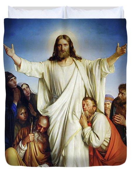 Christus Consolator Duvet Cover