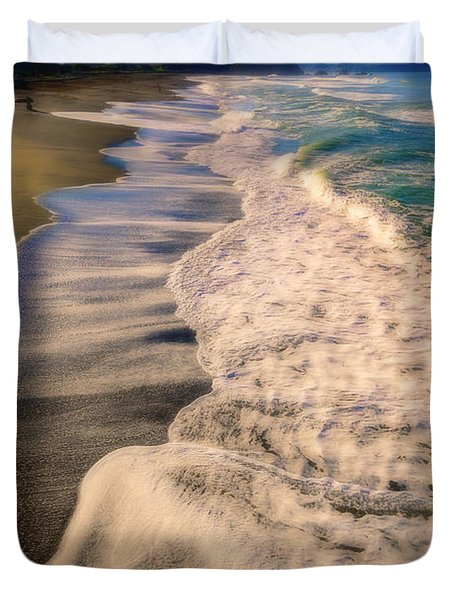 Chromatic Aberration At The Beach Duvet Cover
