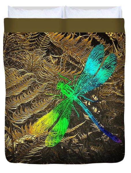 Chromatic Dragonfly Duvet Cover