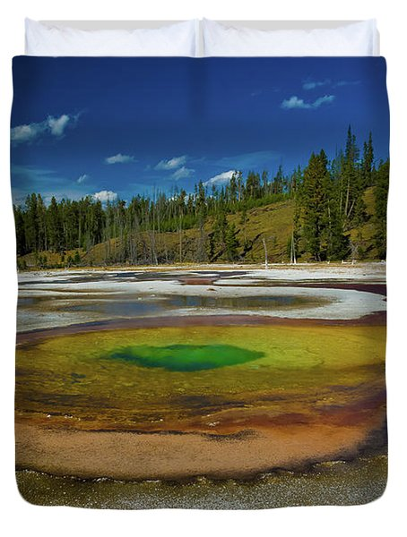 Duvet Cover featuring the photograph Chromatic Pool by Roger Mullenhour
