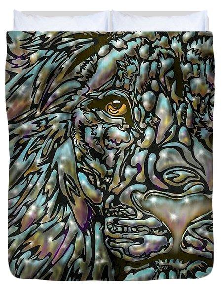 Chrome Lion Duvet Cover