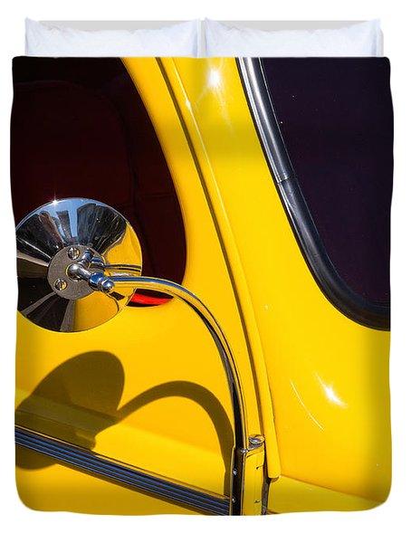 Chrome Mirrored To Yellow Duvet Cover