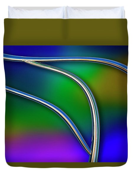 Duvet Cover featuring the photograph Chrome by Paul Wear