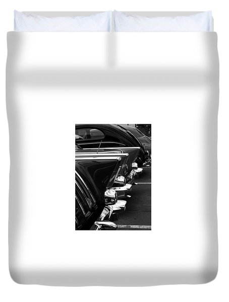 Duvet Cover featuring the photograph Chrome by Steve Godleski