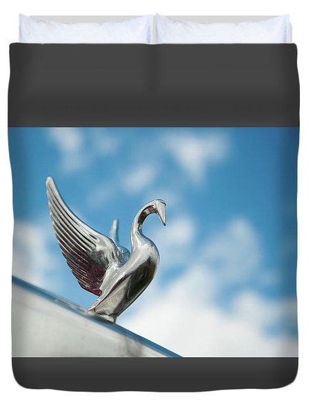 Chrome Swan Duvet Cover