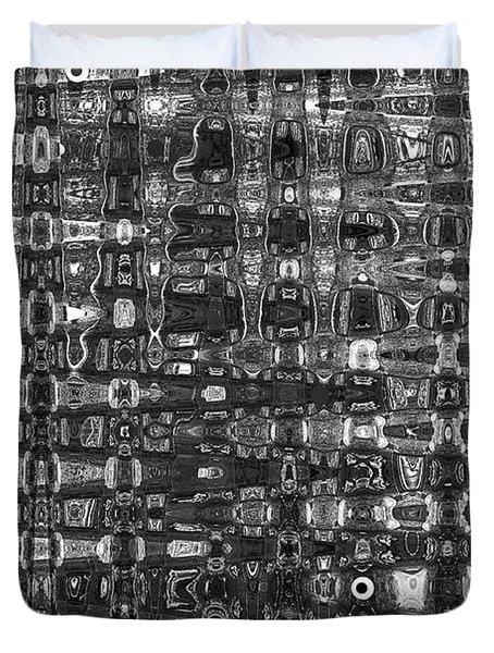 Chromosome 22 Bw Duvet Cover by Diane E Berry