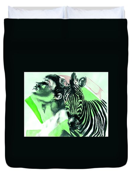 Chronickles Of Zebra Boy   Duvet Cover