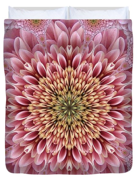 Chrysanthemum Beauty Duvet Cover