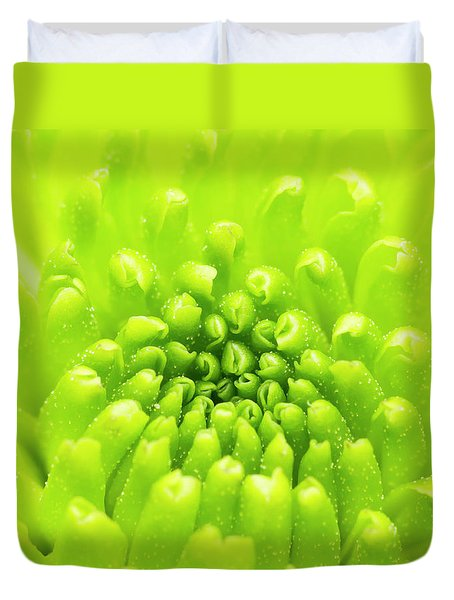 Chrysanthemum Macro Duvet Cover