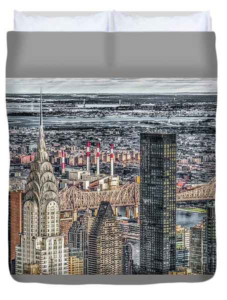 Chrysler Building And Other Stories Duvet Cover by Rafael Quirindongo