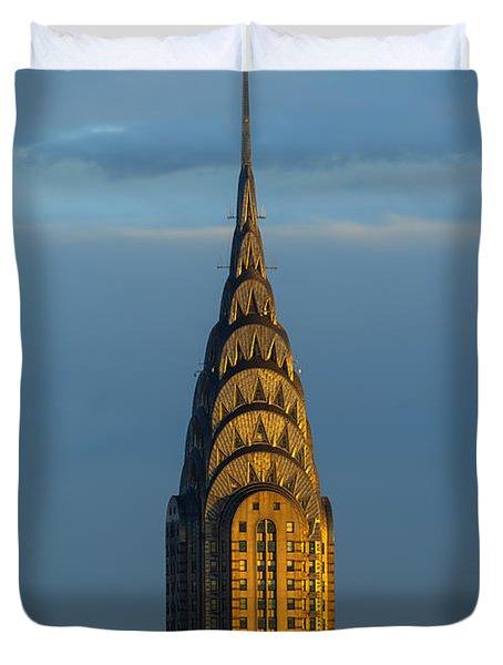 Chrysler Building In The Evening Light Duvet Cover