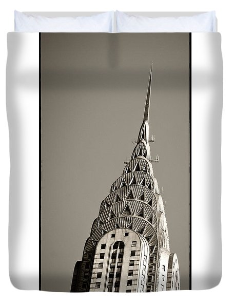 Duvet Cover featuring the photograph Chrysler Building New York City by Juergen Held