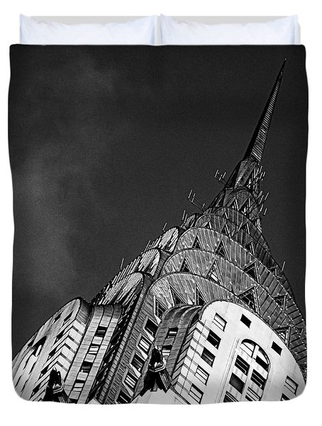 Chrysler Building's Apex Duvet Cover by James Aiken