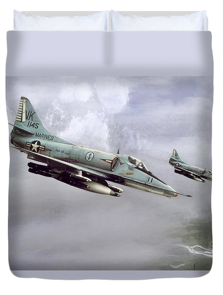 Chu Lai Skyhawks Duvet Cover by Peter Chilelli