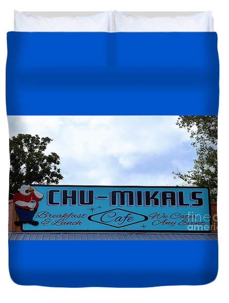 Chu - Mikals - Friendly Austin Texas Charm Duvet Cover by Ray Shrewsberry