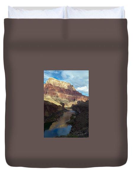 Chuar Butte Colorado River Grand Canyon Duvet Cover