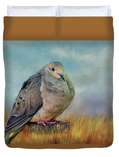 Chubby Dove Duvet Cover