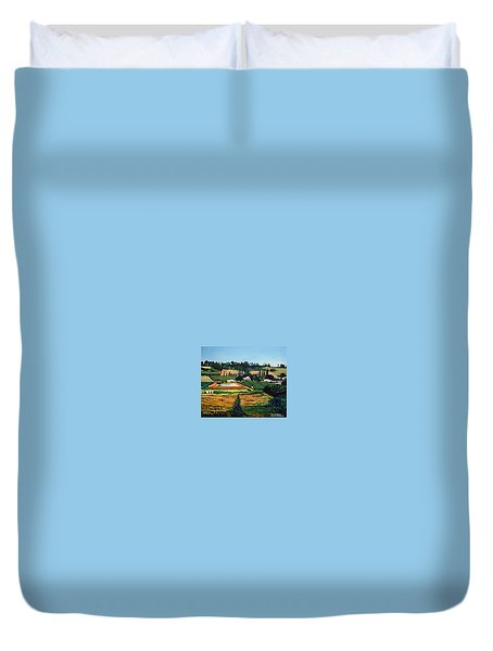 Chubby's Farm Duvet Cover by Tim Johnson