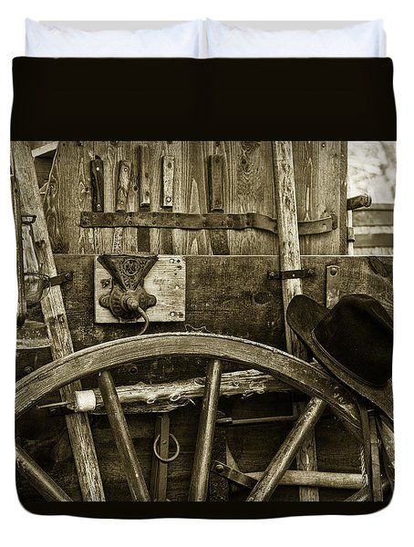 Chuck Wagon Tools Of The Trade Duvet Cover