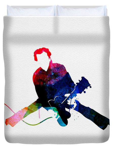 Chuck Watercolor Duvet Cover
