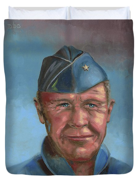 Chuck Yeager Duvet Cover