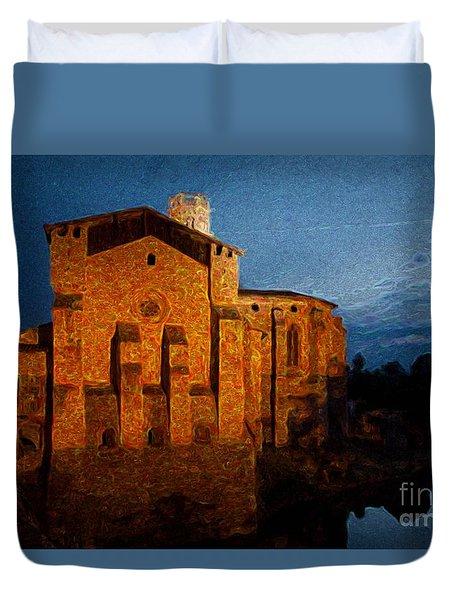 Duvet Cover featuring the photograph Church 1 by Jean Bernard Roussilhe