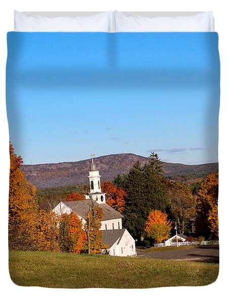 Church And Mountain Duvet Cover