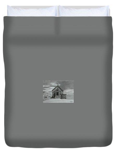 Church  At Bodie  Duvet Cover