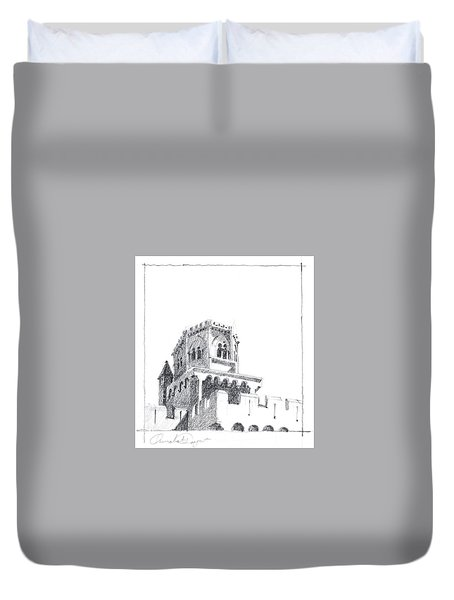 Church At Chamalieres Duvet Cover
