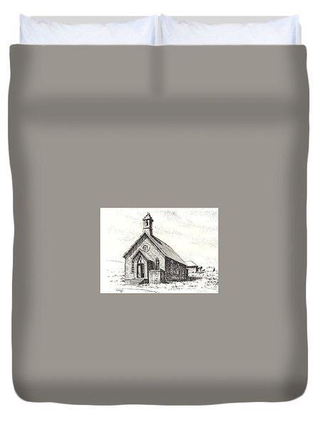 Church Bodie Ghost Town California Duvet Cover by Kevin Heaney