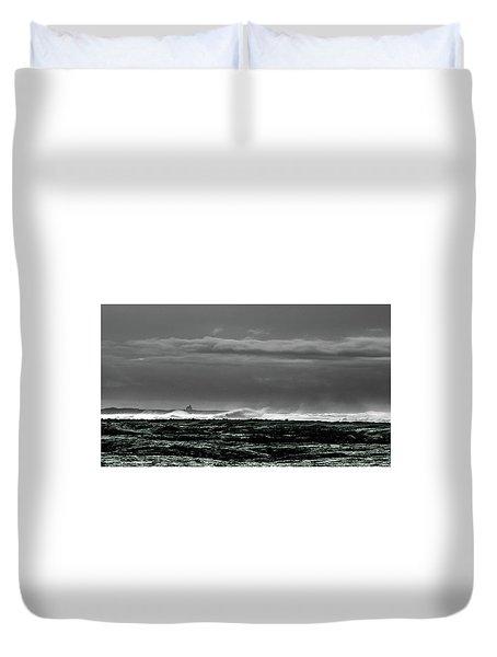 Church By The Sea Duvet Cover