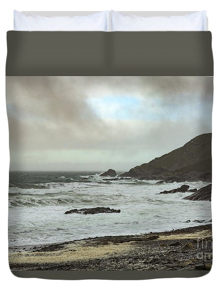 Duvet Cover featuring the photograph Church Cove Gunwallow by Brian Roscorla