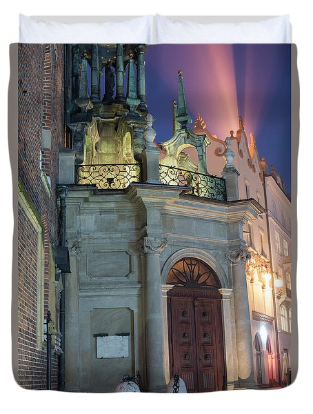 Duvet Cover featuring the photograph Church Door by Juli Scalzi