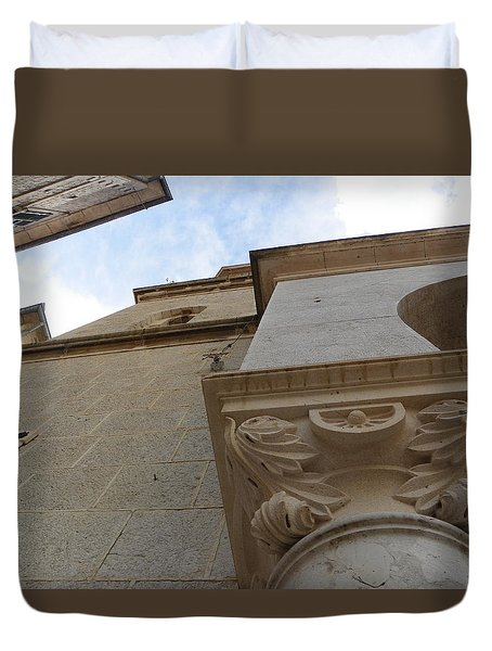 Church Facade Detail Duvet Cover