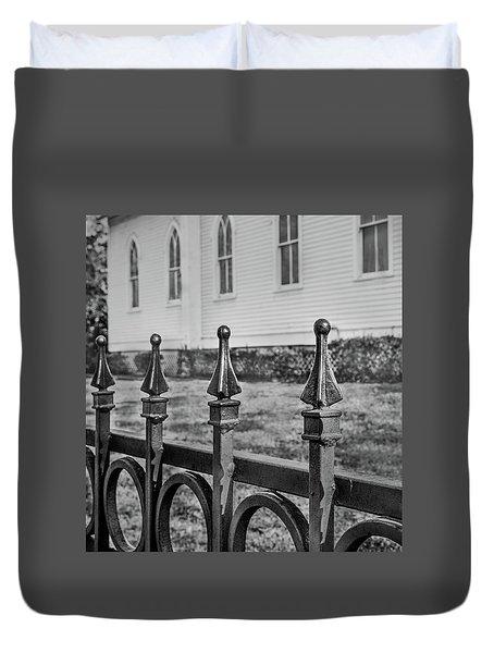 Church Fence Duvet Cover