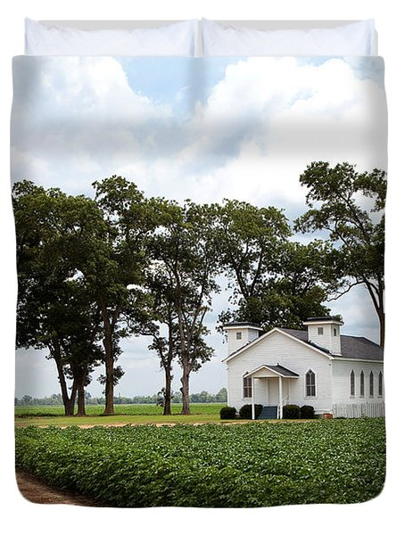 Church From The Help Movie In Mississippi Duvet Cover