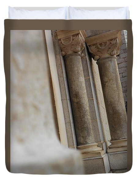Church Gate Pillars Duvet Cover